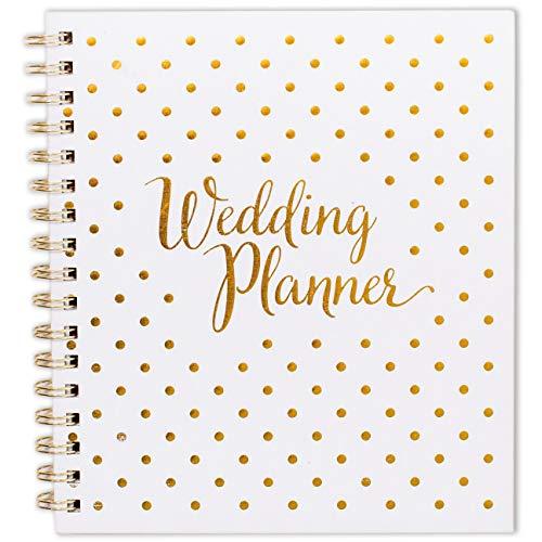 Planificador de boda – Planificador de boda para novia, para Reino Unido [y con texto en inglés], diario de planificación y agenda de organización, regalo de compromiso, calendario de cuenta atrás