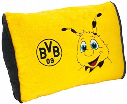 Borussia Dortmund Emma Kissen BVB 09 + gratis Sticker Dortmund Forever, Kuschelkissen/Sofakissen/Pillow
