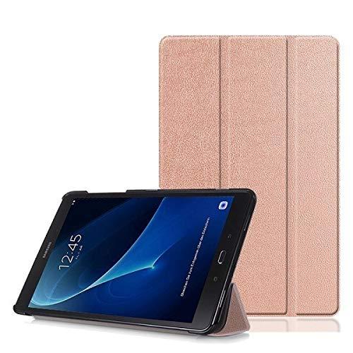 RZL Pad y Tab Fundas para Samsung Galaxy Tab A 10.1 2016 SM-T580 T585, Magnetic Tablet Slim Funda para Samsung Galaxy A6 10.1 2018 (Color : Rose Gold)