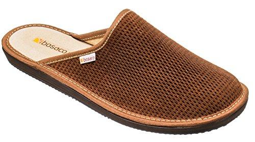 Zapatillas De Casa De Hombre Pantuflas Casa Hombre Suela De Memoria (43, Marrón)