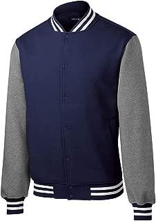 Mens Fleece Letterman Jacket Sizes XS-4XL