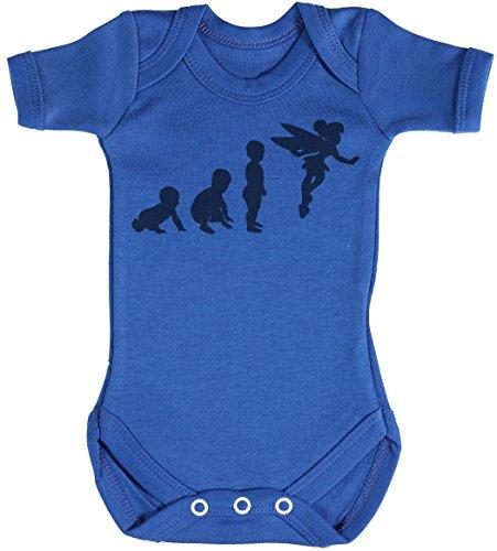 Baby Evolution to A Fairy Body bébé - Gilet bébé - Body bébé Ensemble-Cadeau - Naissance Bleu