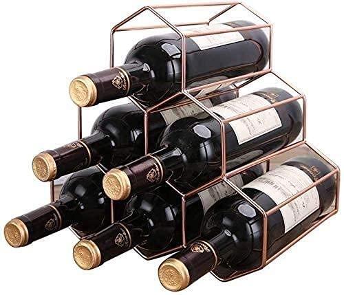 JYDQM Estante de Vino, Botellero de Alambre Apilable Estante de Vino de Re, Alenamiento Bro