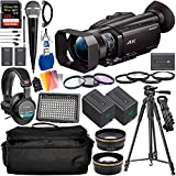 Sony FDR-AX700 4K Camcorder with Deluxe Accessory Bundle – Includes: Audio-Technica VHF TwinMic System + Sony MDR-7506 Headphones + SanDisk Extreme PRO 128GB SDXC Memory Card + More