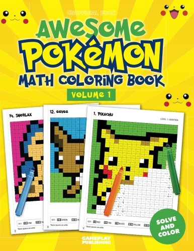 Awesome Pokemon Math Coloring Book