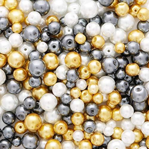 Cuentas redondas de perlas de cristal de 10 mm