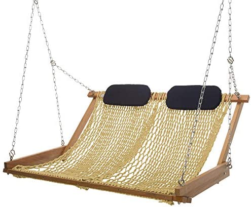 Nags Head Hammocks Original Cumaru Rope Porch Swing Tan DuraCord product image