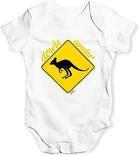 TWISTED ENVY Kangaroo Down Under Baby Unisex Novelty Infant Bodysuit Baby Grow