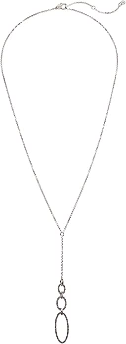 "Crystal Pave Link ""Y"" Necklace"