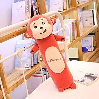 EOFK Big Size Cartoon Rabbit Lion Monkey Frog Sleep Long Pillow Cute Animal Doll Plush Toy Soft Comfortable Pillow Must-Have Friendship Gifts My Favourite Superhero Cake Topper