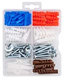 Qualihome Drywall and Hollow-Wall Anchor Assortment Kit, Anchors, Screws, Wall Anchor Hook...