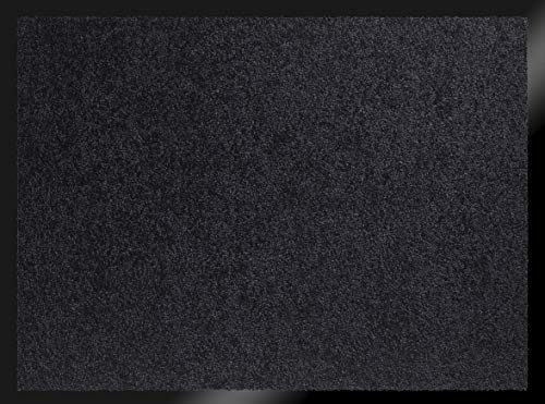 ID Mate 608005Mirande Alfombra Felpudo Fibra Nylon/PVC Recubrimiento 80x 60x 0,9cm, Negro, 60 x 80 cm