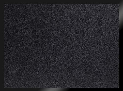 ID MAT 608005 Mirande - Tappeto zerbino in Fibre Nylon e PVC, gommato 80x 60x 0,9cm, Nero, 60 x 80 cm