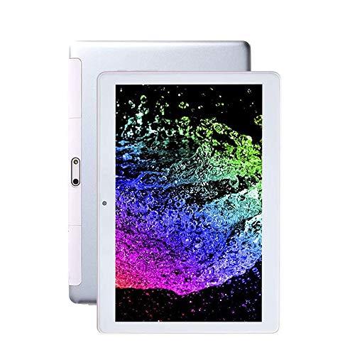"Tableta 10.1 ""Pulgada Android 9.0, Teléfono 3G Llamada USB Phablet 32GB ROM 2GB RAM Ranura Para Tarjeta SIM 2 + 8MP Cámaras Batería Grande 5G WIFI, GPS Pantalla De Cristal Google(Color:blanco)"