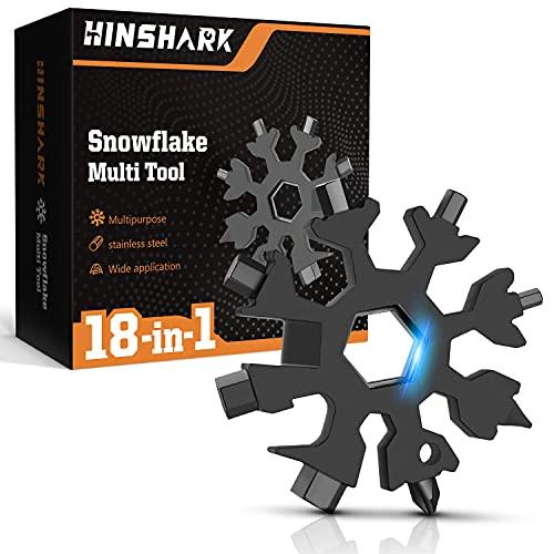 Hinshark Cadeau Homme - Outil Multifonction Flocon de Neige...