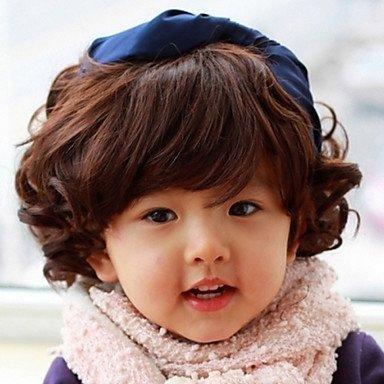 jiayy – droits perruque cheveux synthétique – Pour enfant noir
