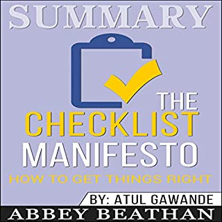 Summary: The Checklist Manifesto: How to Get Things Right audiobook cover art