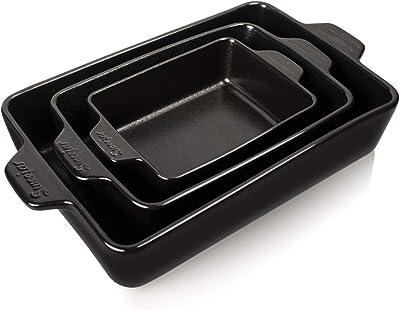 SWEEJAR Ceramic Bakeware Set, Rectangular - The Best Bakeware For Convection Oven