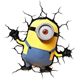 3D Light Fx 3DLIGHTFX - Lmpara 3D Minions Stuart, Multicolor