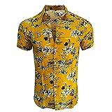 SSBZYES Chemises D'été pour Hommes Chemises à Fleurs pour Hommes Chemises à Manches Courtes Hauts pour Hommes Chemises à Manches Courtes à Imprimé Hawaïen Chemises De Plage