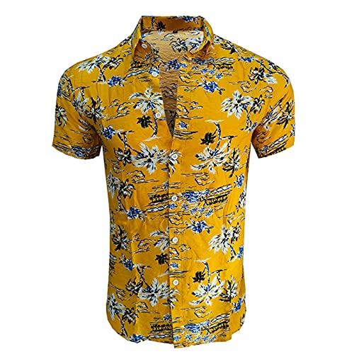 SSBZYES Camisas De Verano para Hombres Camisas Florales para Hombres Camisas De Manga Corta Tops para Hombres Camisas De Manga Corta con Estampado Hawaiano Camisas De Playa