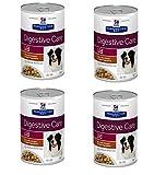 12 Lattine da 354g Hill's i/d Digestive Care Spezzatino Pollo Cibo Umido per Cani