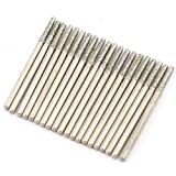 JINGLING 2mm Diamond Drill Bits Grinding Head Lapidary Tools for Stone Pack of 30Pcs...