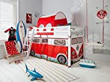 Noa and Nani - Midsleeper Cabin Bed with Campervan Tent and Tunnel