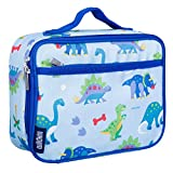 Wildkin Insulated Lunch Box for Boys and Girls, Perfect Size for Packing Hot or Cold Snacks for School and Travel, Mom's Choice Award Winner, BPA-free, Olive Kids (Dinosaur Land)