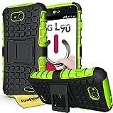 LG L90 Handy Tasche, FoneExpert® Hülle Abdeckung Cover schutzhülle Tough Strong Rugged Shock Proof Heavy Duty Hülle für LG L90 + Bildschirmschutzfolie (Grün)