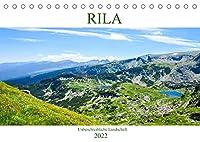 RILA - Unbeschreibliche Landschaft (Tischkalender 2022 DIN A5 quer): Wiesen, Felsen und Seen in Bulgariens Gebirge (Monatskalender, 14 Seiten )