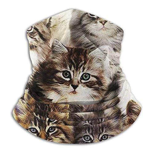 ShiHaiYunBai Tour de Cou Cagoule Microfibre Chapeaux Tube Masque Visage, Fleece Neck Warmer - Cat's Friend Neck Gaiter Tube, Bandana, Headband & Beanie