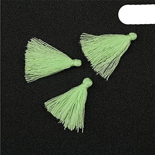 100 piezas de 3 cm Mini hilo de algodón borla DIY colgante joyería pulsera clave g flequillo artesanía borlas accesorios de costura color 19