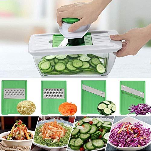 Vegetable Choppers, Vegetable Chopper Food Chopper Cutter Onion Slicer Dicer, Veggie Slicer Manual Mandolin Slicer for Garlic, Cabbage, Carrot, Potato, Tomato, Fruit, Salad.