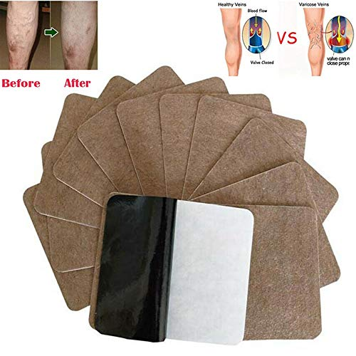 Varicose Veins Herbal Healing Patch, Varicose Veines Cure Patch Plasters Fast Relief Varicose and Spider Veines, Améliore la Circulation Sanguine, élimine les Toxines (12 Pcs)