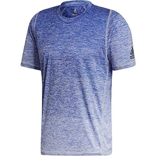 adidas Herren Freelift 360 Gradient Graphic T-Shirt-Blau, Weiß, L