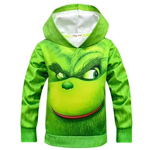 The Grinch Print Sweatshirts Hooded…