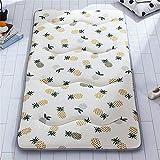 Colchoncillo Colchón en el piso for dormir cojín plegable Mat Lazy cama for una cama supletoria o estudiante de visitantes compartida plegable portátil colchón tatami Almohadilla Plegable Portátil