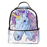 TIZORAX - Mochila de unicornio para portátil, mochila de hombro para estudiantes,...