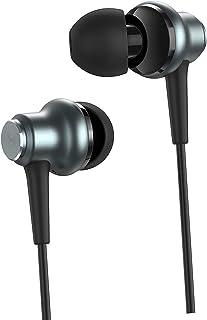 Universal trådbunden 3,5 mm in-ear hörlurar musik sport hörlurar stereo hörlurar spelheadset inbyggd mikrofon – grå