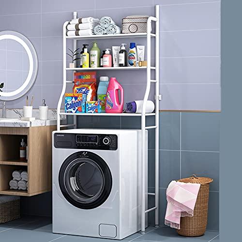 mobiletto bagno lavatrice Scaffali da bagno Scaffali salvaspazio Scaffali forati per lavatrice (Cestello per lavatrice)