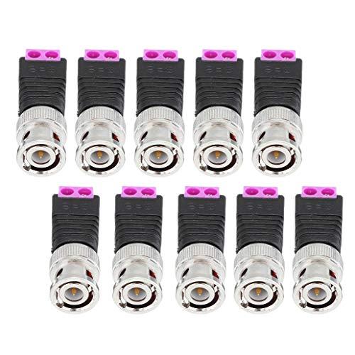 Módulo electrónico BNC Conector de audio y vídeo Q9 Conjunto 2 Bit torcida del alambre de prensa conjunta Jack Conector 10Pcs Equipo electrónico de alta precisión (Color : Red)