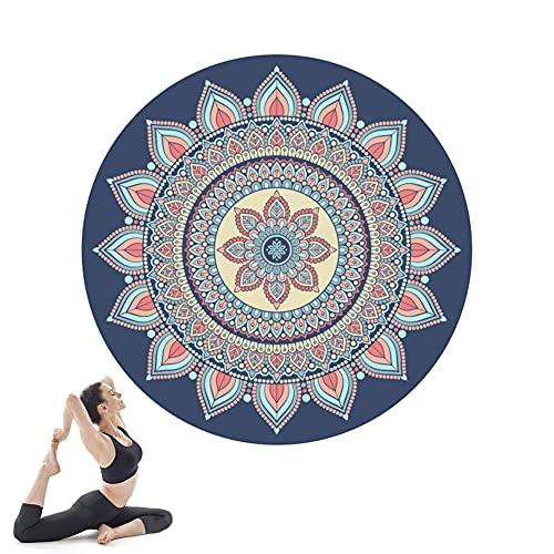 Esterilla Yoga, Yoga Mat diseñado para Entrenamiento físico, No tóxico, Antideslizante, para Pilates,Fitness, 140cm*140cm*3.5mm Portátil/B