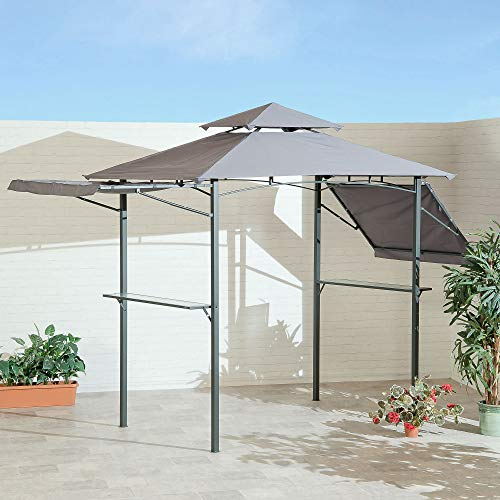 SunTime BBQ Garden Patio Gazebo with Adjustable Eaves