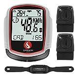 SKARLIE Bike Speedometer with Heart Rate Monitor...