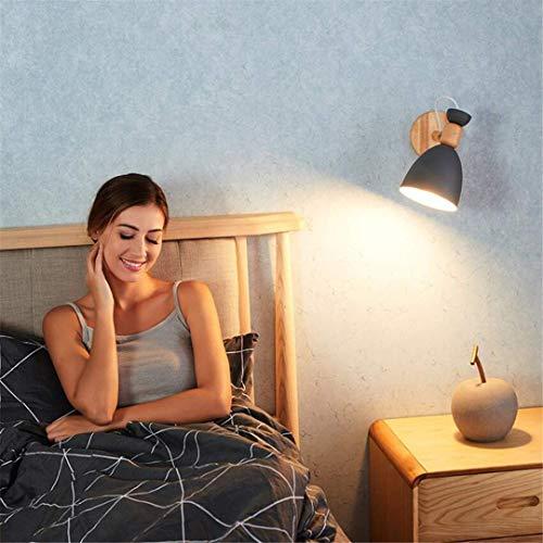 Led Plafond Lights Plafondlamp Nordic Stijl Grijze Wandlamp Slaapkamer Moderne Moderne Moderne Minimalistische Creatieve Vreemde Bedzijde Lamp Pure Hout Studie Aisle Wandlamp Persoonlijkheid Lamp voor Slaapkamer Keuken H