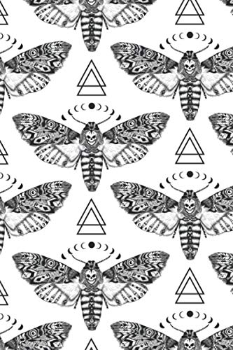 IT'S A RIOT! ART Notebook Death Moth Pattern: IT'S A RIOT! ART Notebook Death Moth Pattern: Gothic Journal, Diary & Composition Book In Alternative Aesthetic, Goth Accessory