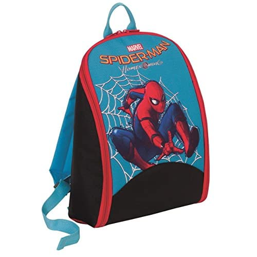 GAME BACKPACK MARVEL - SPIDERMAN HOMECOMING - 2in1 Zaino e gioco bersaglio freccette - Nero Blu 9Lt