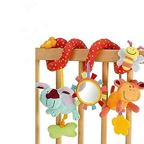 StillCool Baby Stroller Toy Activity Spiral Clip On Pram Pushair with Mirror Bell