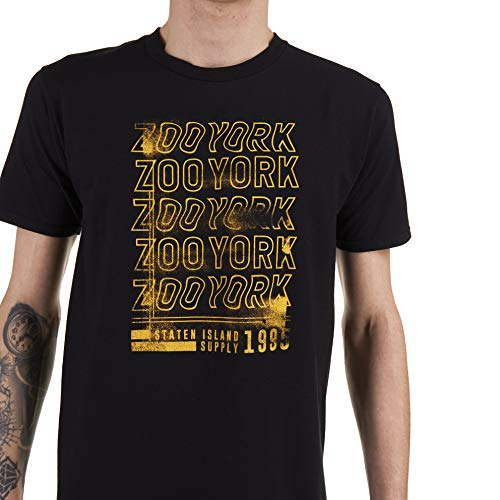 Zoo York Staten Copy T-Shirt, Nero (Black Blk), Small Uomo